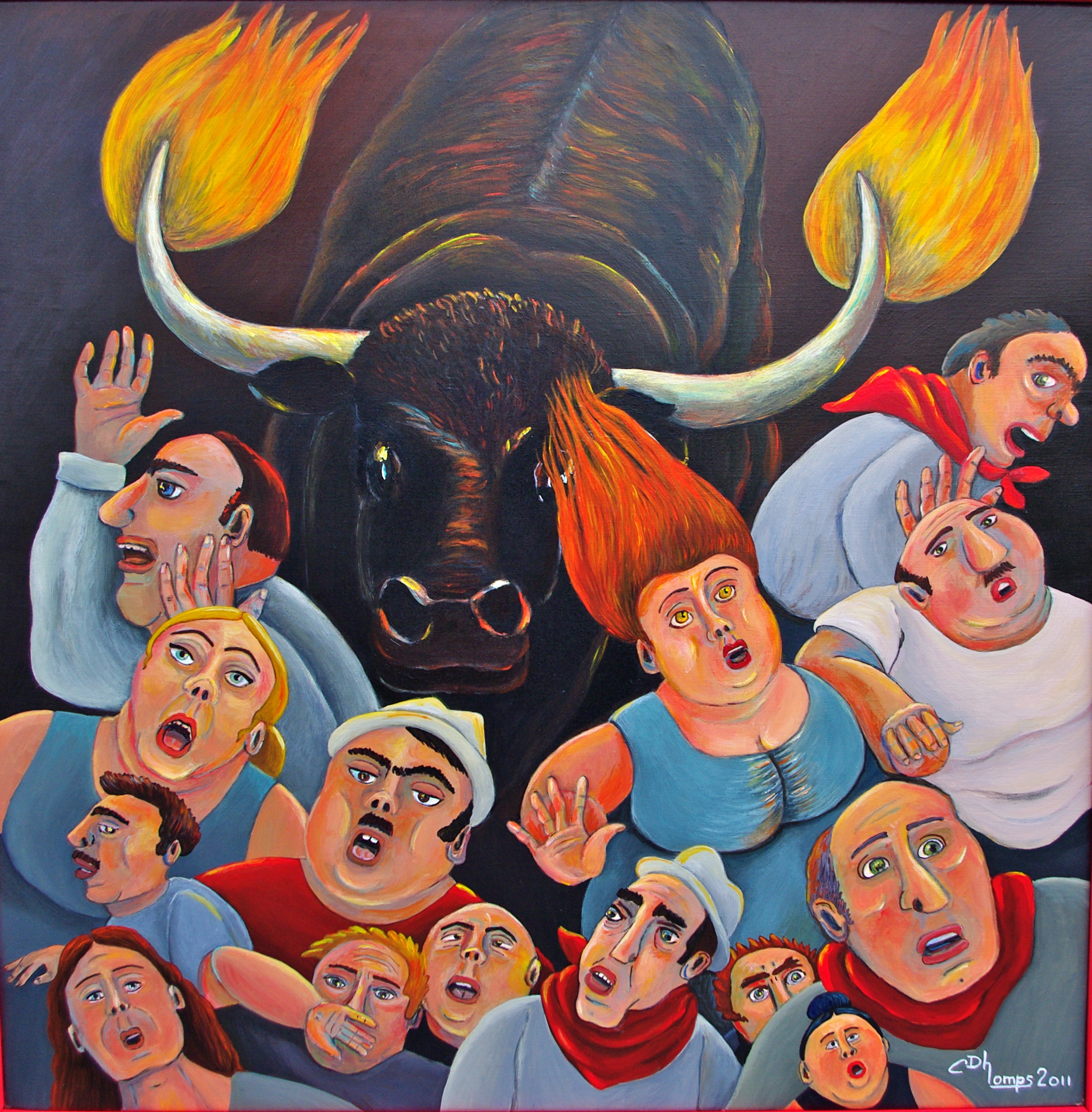 12 - Toro de fuego