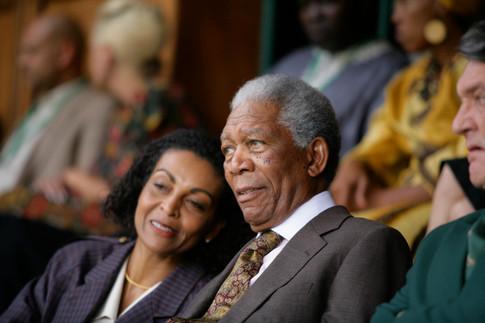 Morgan Freeman and Adjoa Andoh in Invictus (2009)