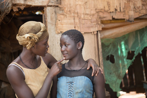 Lupita Nyong'o and Madina Nalwanga in Queen of Katwe (2016)