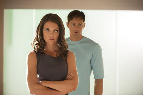 Alexander Skarsgård and Katie Holmes in The Giver (2014)