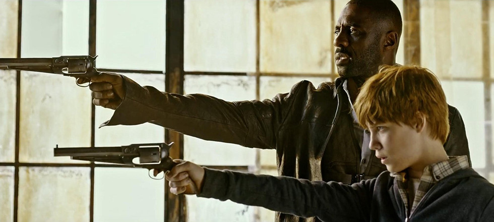Idris Elba and Tom Taylor in The Dark Tower (2017)