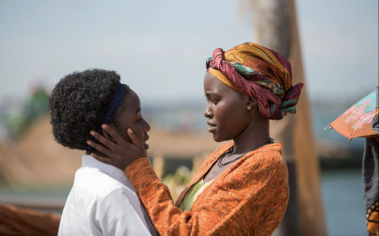 Lupita Nyong'o and Madina Nalwanga in Queen of Katwe (2016) 2