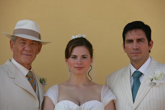 Ian McKellen, Jim Caviezel and Ruth Wilson in The Prisoner (2009)