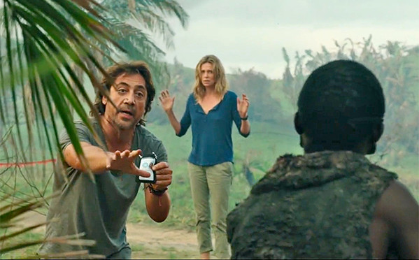Charlize Theron and Javier Bardem in The Last Face (2016)