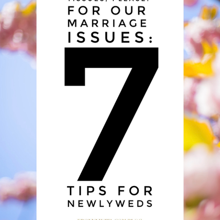 Tissues, Please! For Our Marriage Issues: Newlywed Tips: Wife Wednesday