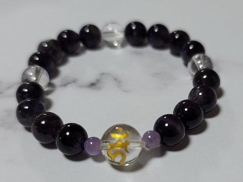 不動明王・腕念珠(紫水晶・水晶)