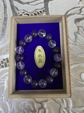 御霊入り腕念珠(紫水晶)