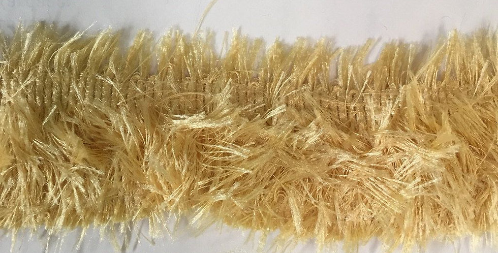 Solid Yellow Gold Brush Fringe - Pillow Fringe