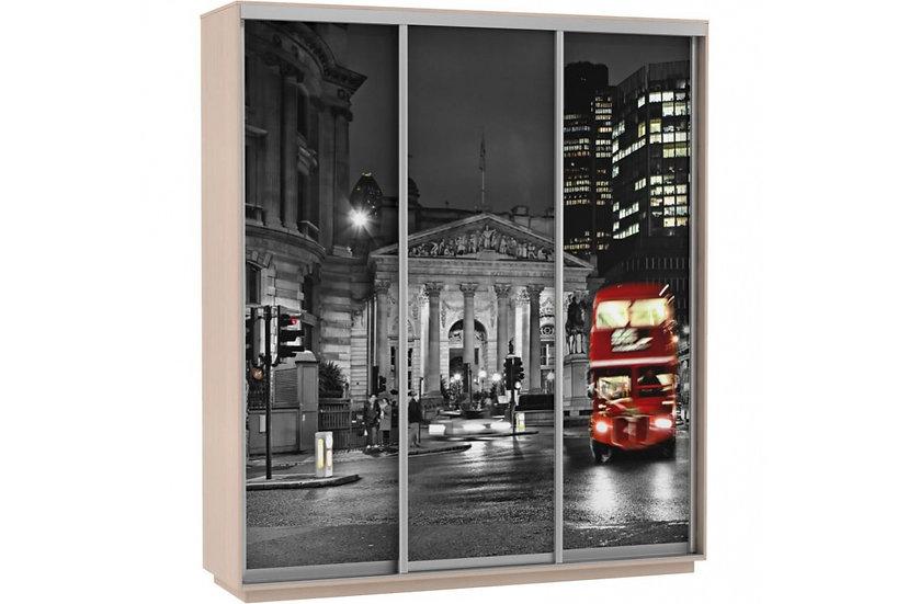 Шкаф-купе 1,8м; 2,1м; 2,4м (Лондон Фото трио)