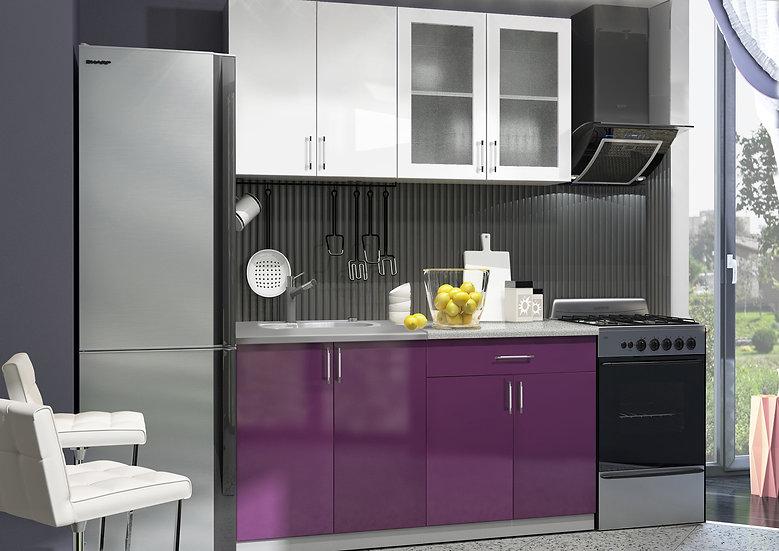 """Кухня МДФ. """"Виолетта"""" 1,6 м"""