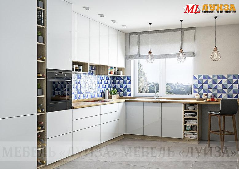 """Кухня МДФ """"Белый глянец"""""""