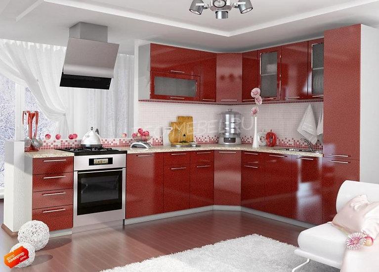 "Кухня МДФ. ""Гранат"" 2,5*2,6м"
