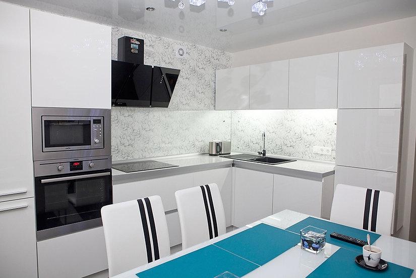 Кухня Пластик Белая