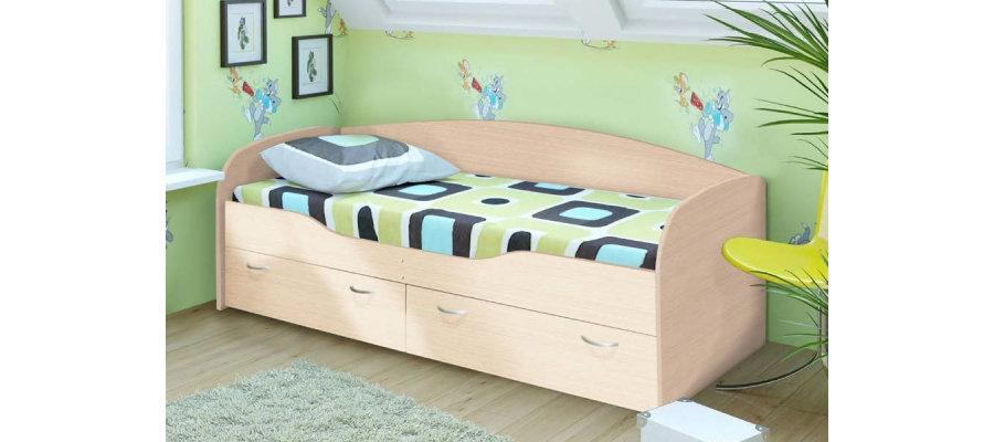 """Кровать """"Бриз-2"""" Дуб белфорд"""
