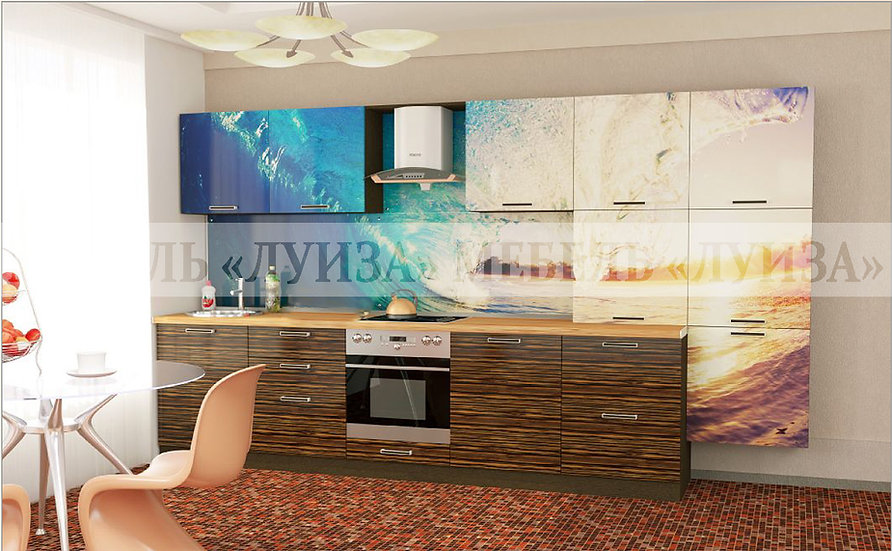 Кухонный гарнитур Ф-19 (3,6 м)