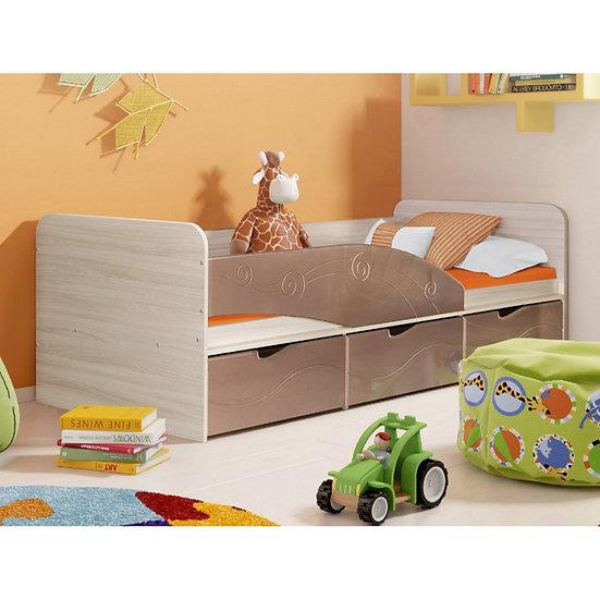 """Кровать детская """"Бриз"""" 3 Шоколад"""