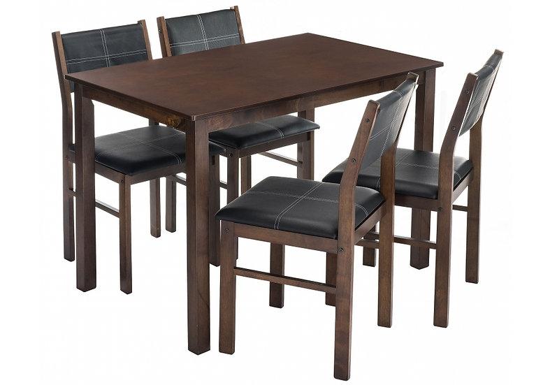 Обеденная группа Bahamas (стол и 4 стула) oak / black