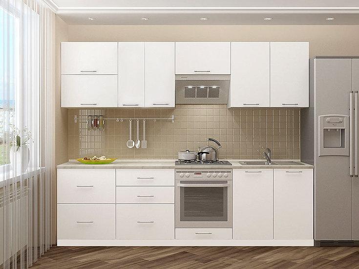 """Кухня """"Эко-Белый"""" 2,6 м"""