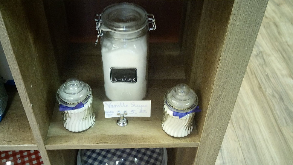 Vanilla Sugar in Glass Jars