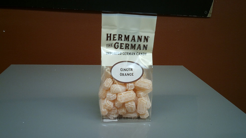 Herman the German traditional Candy Ginger/Orange