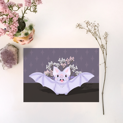 Bat Planter Print