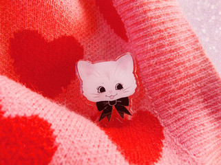 Claire Cat PIn
