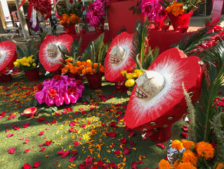 Strawberry Skulls — Dia de los Muertos Altar for Linda Pace @ The Historic Pearl