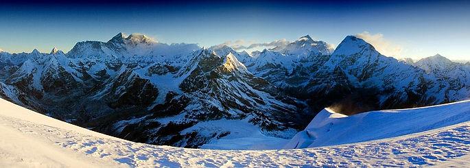 Looking towards Everest from Mera Peak