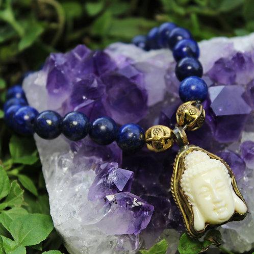 Lapis Lazuli Tranquility Buddha Bracelet