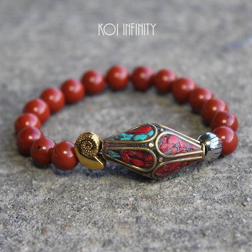 Tibetan Shell Red Jasper