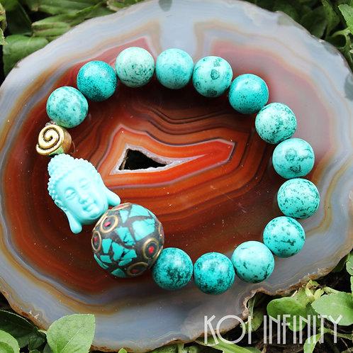 Tranquility Buddha Turquoise Bracelet