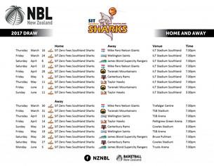 NZ NBL Draw 2017