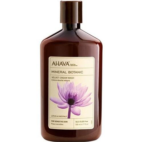 Ahava Velvet Cream Wash Lotus & Chestnut 500ml