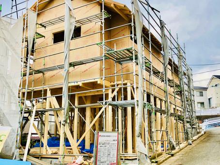 上棟・木工事が始まりました