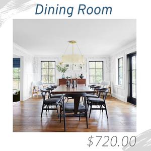 Dining Room Living Room Joshua Allen Design Interior Design e-design virtual design