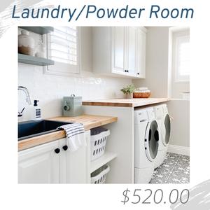 LaundryPowder Room Living Room Joshua Allen Design Interior Design e-design virtual design