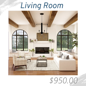 Living Room Joshua Allen Design Interior Design e-design virtual design