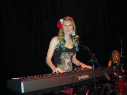 When my sub gig was done with The Killer Queens, they asked me to stay on and play keys!!! I started
