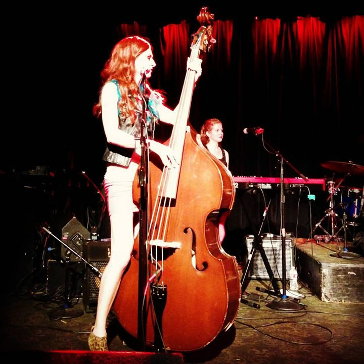 Upright bass love ❤ This was at Slim's in San Francisco with The Killer Queens recently. I was playi