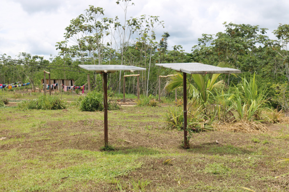 Recently the village received solar energy. After sunset from 6:00 p.m. the center of the village now has electricity for a few hours.