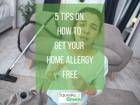 5 Tips on How to Get Your Home Allergy Free