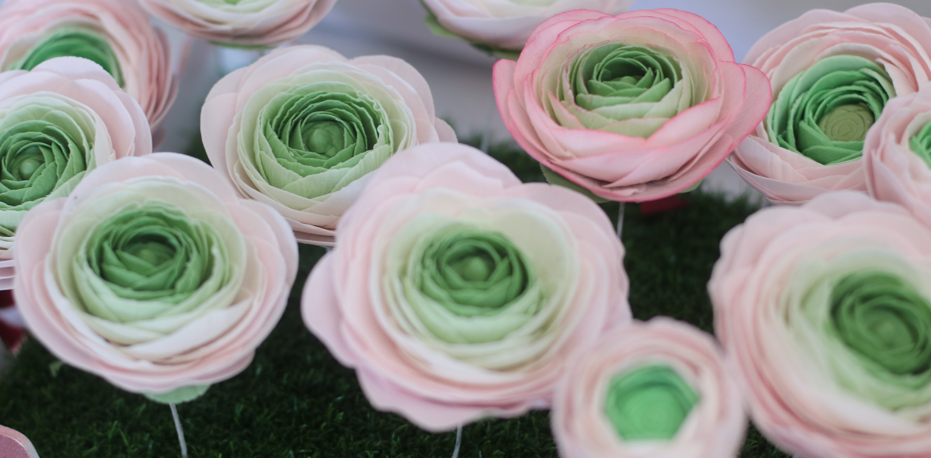 Ranunculus sugar flowers