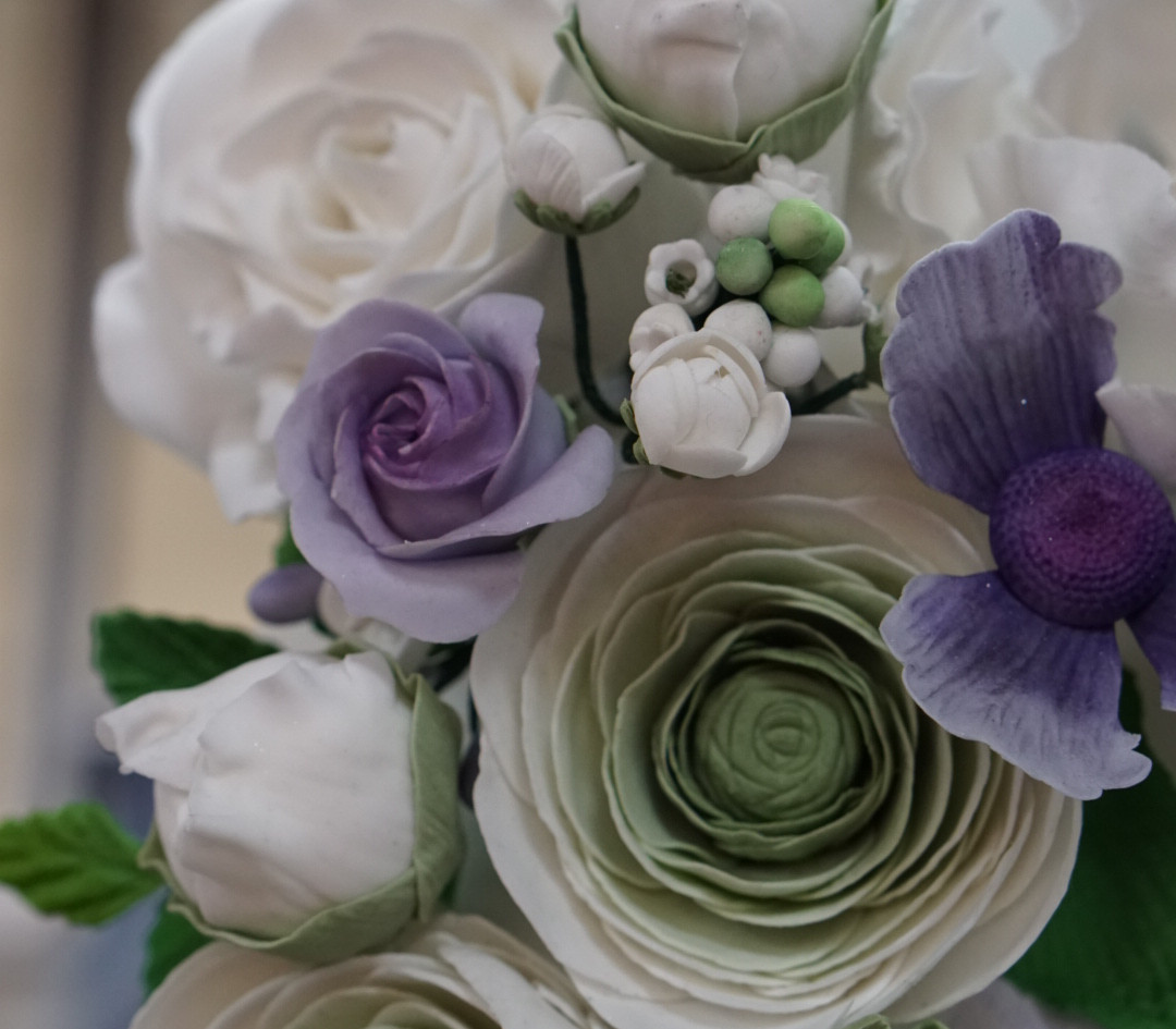Ranunculus, Peony Buds and Roses