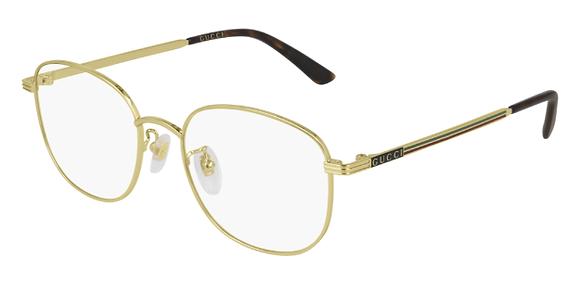 Gucci Gold Glasses