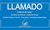 Llamado a Cobertura de Cargo - Ayudante de Docencia - Carácter Interino a Término - Área Salud