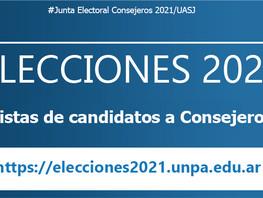 Junta Electoral Consejeros | Listas de candidatos a Consejeros habilitadas