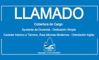 Llamado a Cobertura de Cargo-Ayudante de Docencia-Dedicación Simple-Carácter Interino a Término