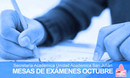 Mesas de exámenes OCTUBRE - Se habilita formulario de solicitud de inscripción