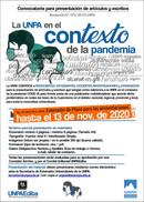 """Convocatoria: """"La UNPA en el contexto de la pandemia. Intervenciones y Reflexiones"""""""