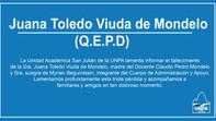 QEPD Juana Toledo Viuda de Mondelo